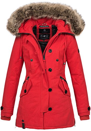 Navahoo Damen Designer Winter Jacke warme Winterjacke Parka Mantel B638 3