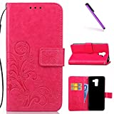 EMAXELERS Huawei Honor 7 PU Leather Lucky Clover Pattern
