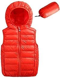 Happy Cherry Chaleco Forrado Acolchado con Capucha Caliente Chaqueta Ropa Exterior Vest Jacket para Bebés Niños Niñas