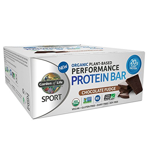 Garden of Life SPORT Organic Plant-Based Performance Protein Bars Chocolate Fudge 12 x 70 g
