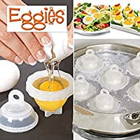 Home Genie Eggies 6 Hard Boil Egg Shells & 1 White Egg Separator
