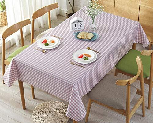 WJYdp Wasserdichte Quadratische Rosafarbene Tischdecke Ölbeständige Verbrühungsfreie...