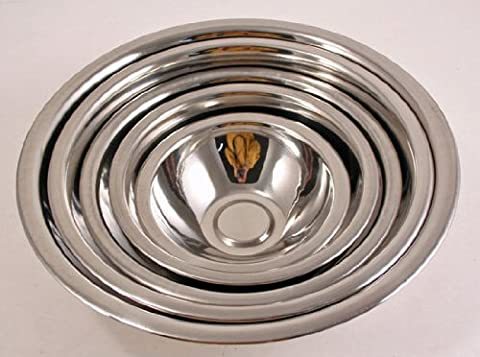 Kitchen Diva: 5 Piece Stainless Steel Mixing Bowls Set by ToolUSA