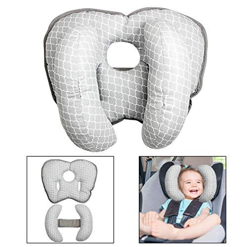 Baby Kopfstütze Kissen für Autositz Nackenkissen Unterstützung Schlafkissen Baby Einstellbare Kopfstütze Nackenkissen (Klein)
