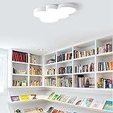 Dimmbar LED Schlafzimmerlampe Modern Kreative Wolken Design Deckenleuchte Kinderlampe Bunt Deckenlampe Ultraslim Innenbeleuchtung Lampe Kinderzimmer Decke Beleuchtung Leuchten Direkt 45cm*32cm*5cm , Weiß