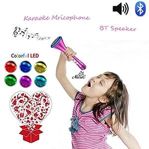 enfants karaoke portable microphone enceinte avec lecteur musique mp3 bluetooth micro pied. Black Bedroom Furniture Sets. Home Design Ideas