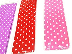 1stbabystore baby girl headband hairband cloth band hair accessories with Printing for newborn to 3 years, Red,Pink,Purple (3 pieces)