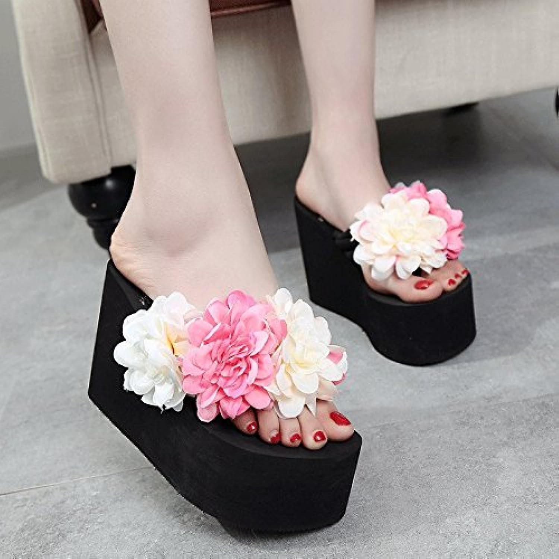 0527b666c les femmes des sandales glissant femme été été été grosse fleur ...