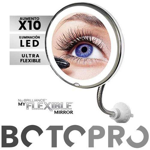 BOTOPRO - Flexible Mirror, Espejo Flexible de 10 aumentos con iluminación LED - Anuncia en TV