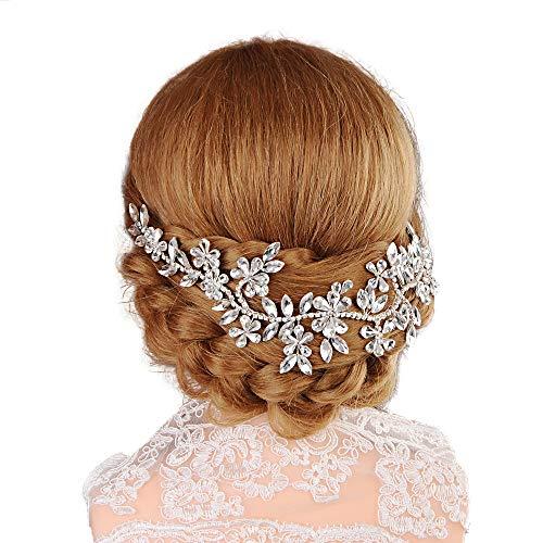 THK-Wedding Perlen Hochzeit Haarschmuck Braut Haarkamm,Strass Hochzeit Tiara,Hochzeit Haarband,Haarspangen