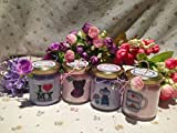 Ti voglio bene Nonna 4 vasetti con candele di cera di soia e oli essenziali Regalo per la Nonna Festa dei Nonni