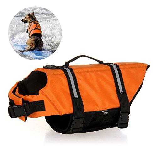 Jayboson Hundeschwimmweste Doggy Aqua-Top Schwimmweste Schwimmtraining Schwimmhilfe für Hunde Vest (Größe XXL)