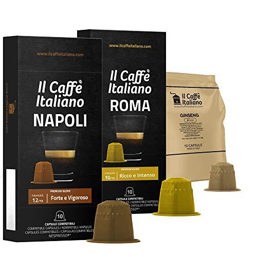 FRHOME - Nespresso 50 Capsule compatibili - Il Caffè Italiano - Kit Degustazione Sfizioso con varie intensità
