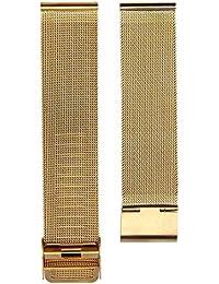 20 mm Mira la correa - SODIAL(R)Moda milanesa acero inoxidable 20 mm Venda Reloj Pulsera Correa…