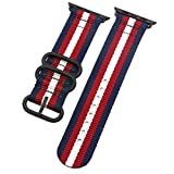 Deluxe Premium-Nylon Herren-Armbanduhr Band Armband für Apple Watch Serie 1,2,3 42mm 2blue/2red/weiß