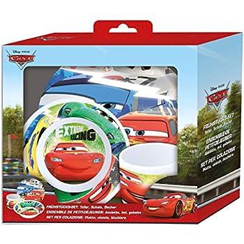 Disney Cars Geschirr-Set Kinder Frühstückset Becher Schale Teller Kindergeschirr