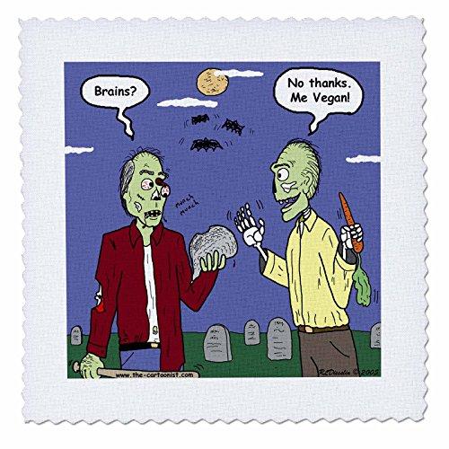 2Halloween Zombie Veganer Quilt Platz, 6von 15,2cm (Benutzerdefinierte Halloween Shirt)