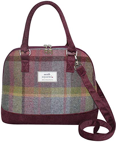 Earth Squared - Bowling Tasche - Schulter / Handtasche - Tweed Wolle - Distel - 38x25x15cm