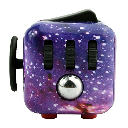 Walwh Relieves Stress and Anxiety Cube Edc Fidget Toy for Children and Adults Starry Night