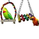 SNNplapla 2 Pack Bird Swings,Pet Bird Parrot Parakeet Budgie Cockatiel Cage Hammock Swing Hanging Toy