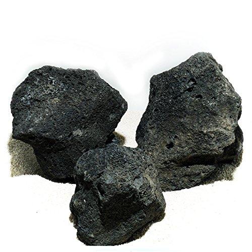 Lava Stein, schwarz 1kg