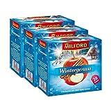 Milford Weihnachtstee 'Wintergenuss' Früchtetee mit Zimt-Apfel-Aroma (3 x 28 Beutel)