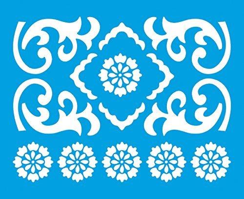 21cm x 17cm reutilizable plantilla Flexible de plástico para diseño de gráfico aerógrafo para decorar pared muebles tela decoraciones plantilla de dibujo redacción-flor artesanía del hierro de hoja