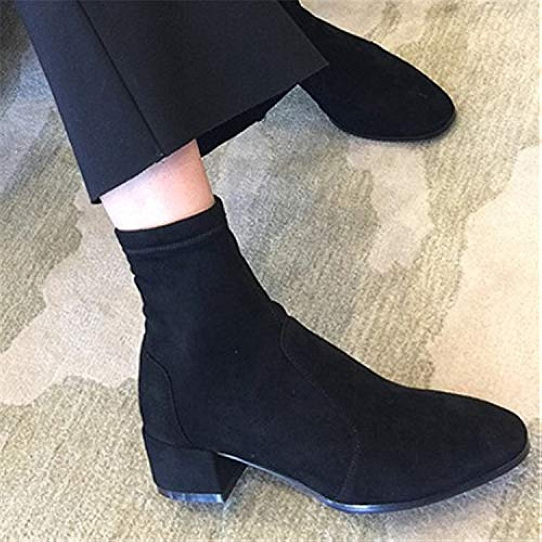 Talons Bottes Chaussures Liuxc Femmes Hauts Pu Courtes CoedBrx