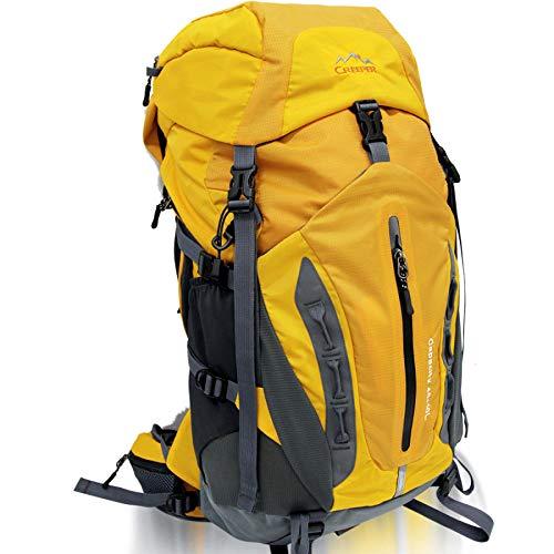 CSPMM Laptop-Rucksack Outdoor Profi Klettern Rucksack 50L Rucksäcke Reisetaschen,Yellow-OneSize -