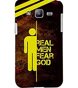 PrintDhaba QUOTE D-6208 Back Case Cover for SAMSUNG GALAXY J2 (Multi-Coloured)
