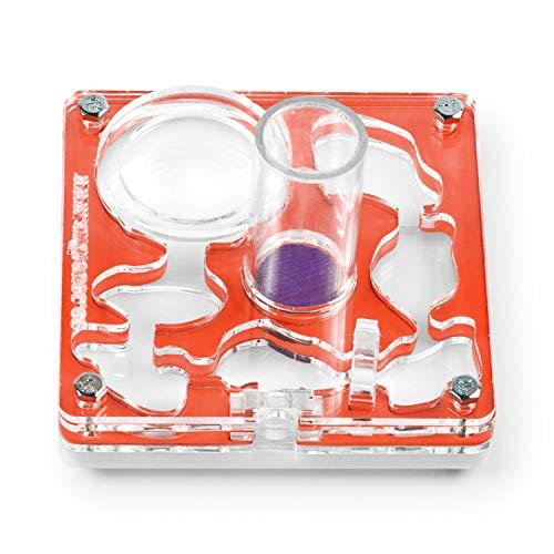 AntHouse - Hormiguero Acrílico NaturColor 10x10x1,5cm - Esponja con Depósito (Incluye Hormigas Gratis) (Rojo)