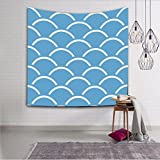 Creative Tapestry, Wave Pattern Tapestry, Wall Decoration, Outdoor Beach Towel , #18 , 153x130