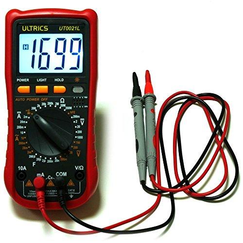 ULTRICS® Multímetro Digital, DC Circuito Comprobador Portátil de Alta Calidad LCD Voltímetro Amperímetro Amp Ohm Voltios Capacidad de Diodos de AC de Prueba Pitido de Prueba Gratuito con Los Cables