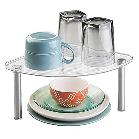 mDesign freistehendes Eckregal – Küchenregal für Küchenschrank oder Arbeitsplatte –