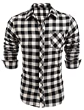 Burlady Hemden Herren Trachtenhemden Karohemd Langarm Freizeithemden Karrierte Einfarbig Shirts Super Qualität