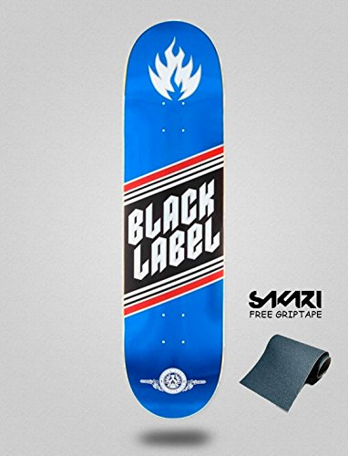 lordofbrands Monopatín Skate Skateboard Black Label Top Shelf Blue 8.5 (Black Label Deck)