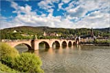 Poster 30 x 20 cm: Heidelberg Alte Brücke am Tag von