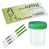 50 x proMatris Ovulationstest Streifen 10miu/ml LH-Test Eisprung Test + 5 Urinprobebecher