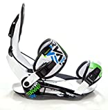 Snowboard Bindung Raven s250 Black/White/Green/Blue