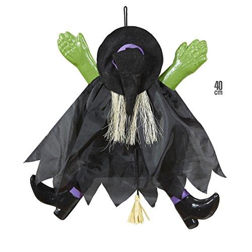 Halloween Hexen Dekoration Fliegende Deko Hexe 40 cm Zauberin Hängedekoration Fee Hängedeko Gruselige Halloweendeko Partydeko Hexenparty Raumdekoration