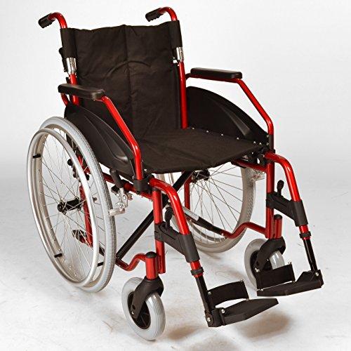 Leichte Falten selbst propel Rollstuhl mit Schnellräder in Metallic-Rot ECSP03