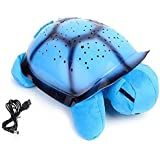 Bliss Turtle Shaped Projector Table Lamp (Multicolour)