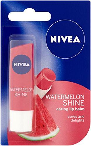 Bálsamo para el cuidado de los labios de Nivea, sabor sandía, 4,8g, paquete de 12 unidades