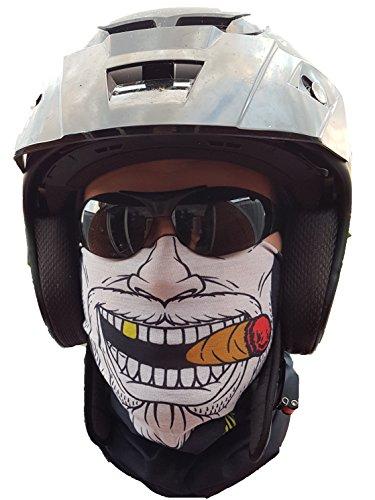 SVoKI GANGSTER HALSTUCH MASKE Schlauchtuch Schal Kälteschutz Gesichtsmaske Halloween Motorrad Ski Snowboard Fahrrad Jagen Angeln Paintball