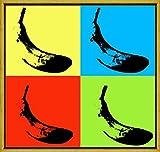 Berkin Arts Rahmen Andy Warhol Giclée Leinwand Prints Gemälde Poster Reproduktion(Bananen)