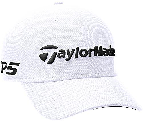 b1bb7519d1c TaylorMade 2018 New Era Tour Authentische 39Thirty M3   TP5 Stretch Fit  Herren Golfhut White Medium
