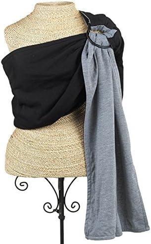 Balboa Baby reversibile jersey Sling – nero & grigio grigio grigio B01E4H8MMW Parent | Forte calore e resistenza all'abrasione  | elegante  | Ottima selezione  20bd58