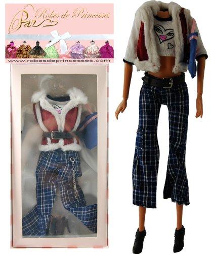 """Vestito da principessa """"TRAVEL"""" per Bambole Barbie, Disney ed altri personaggi."""