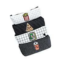 4 PCS Fmeida Pencil Case Bag Zipper Student Stationary Pouch Cosmetic Makeup Bag