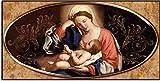 Deco Italia Quadro Sacro Religioso Capezzale Sacra Famiglia - Madonna con Il Bambino | 115 x 62 cm